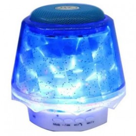 Christmast Bluetooth Speaker Table Lamp with LED Light - Blue