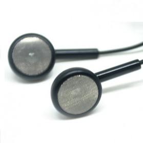 Standard Version Earphones 3.5mm Jack Plug with Mic  - Model 01 - Black