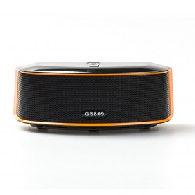 GS Bass Portable Bluetooth Speaker - GS809 - Black - 2