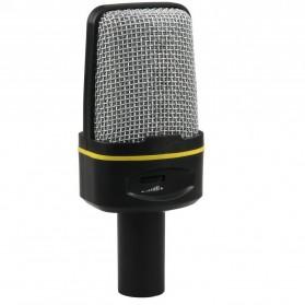 Mikrofon Smooth 3.5mm dengan Stand - Black - 2