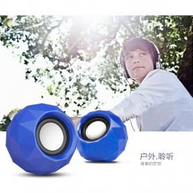 Popu Pine Mini Portable Speaker M01 - Blue - 3