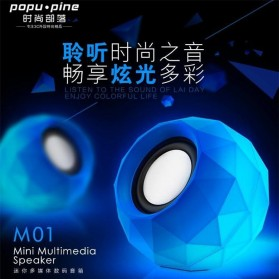 Popu Pine Mini Portable Speaker M01 - Blue - 5