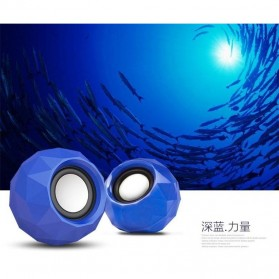 Popu Pine Mini Portable Speaker M01 - Blue - 7
