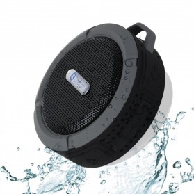 Waterproof Sport Bluetooth Speaker with Suction Cup & Mountainering - C6 - Black