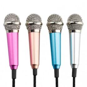 Mini Smartphone 3.5mm Microphone with Mic Stand - Pink - 3