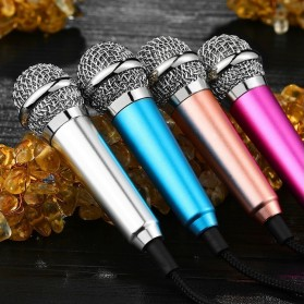 Mini Smartphone 3.5mm Microphone with Mic Stand - Pink - 7