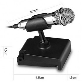 Mini Smartphone 3.5mm Microphone with Mic Stand - Pink - 8