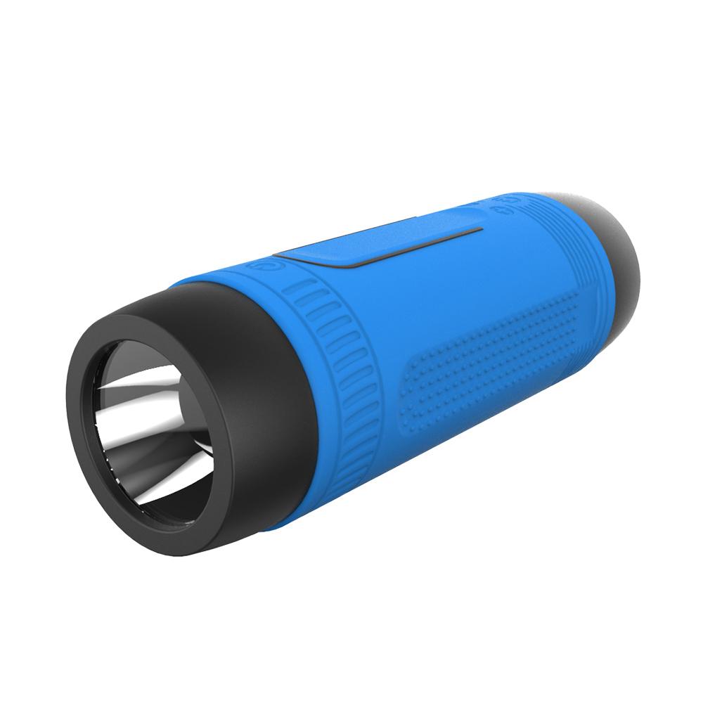 ... Zealot Bluetooth Speaker Waterproof dengan Powerbank 4000mAh & Senter - Blue - 3 ...