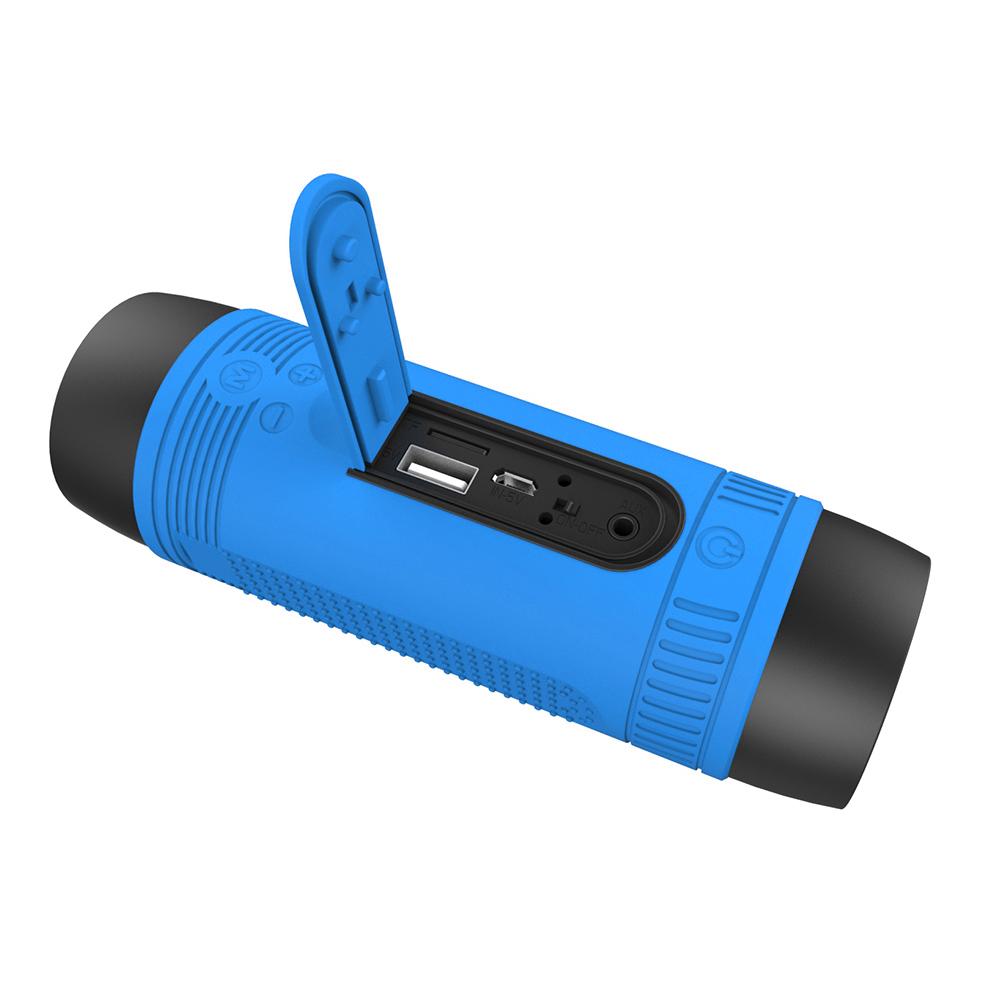 ... Zealot Bluetooth Speaker Waterproof dengan Powerbank 4000mAh & Senter - Blue - 4 ...