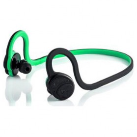 Silica Gel Sport Earhook Bluetooth Earphone with aptX Lossless Audio Quality - HV-600 - Black/Green