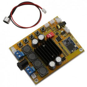 Bluetooth Audio Receiver CSR4.0 Digital Amplifier Board TDA7492 2 x 50w with Mic Module
