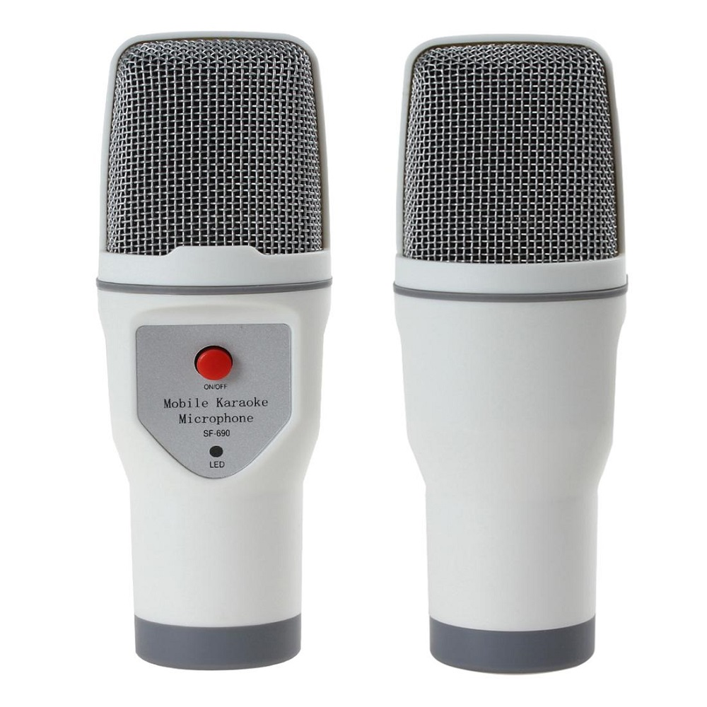 Karaoke Mobile Condenser Microphone 3.5mm - SF-690 - White -