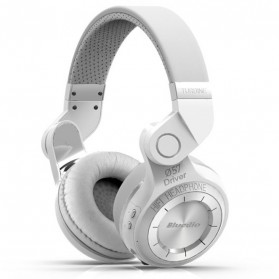Headphone & Headset Bluetooth - Bluedio T2 Turbine Wireless Bluetooth Headphones - White
