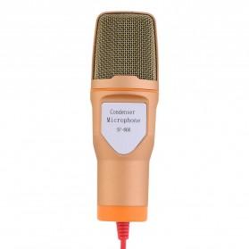 Mikrofon Kondenser Studio dengan Stand - SF666 - Golden