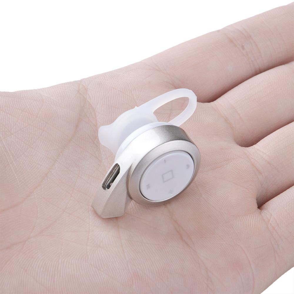 mini headset wireless bluetooth 4 0 a8 silver. Black Bedroom Furniture Sets. Home Design Ideas