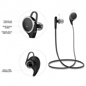 JOGGER Sport Bluetooth Earphone with Microphone - QY8 - Black - 3