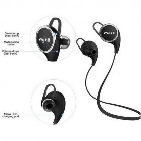 JOGGER Sport Bluetooth Earphone with Microphone - QY8 - Black - 4