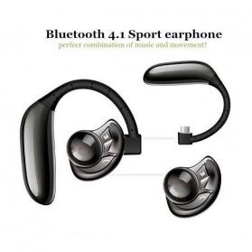 UFO Stereo Wireless Bluetooth Headset Handsfree - Black - 4