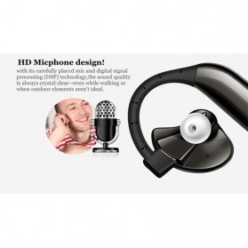 UFO Stereo Wireless Bluetooth Headset Handsfree - Black - 6