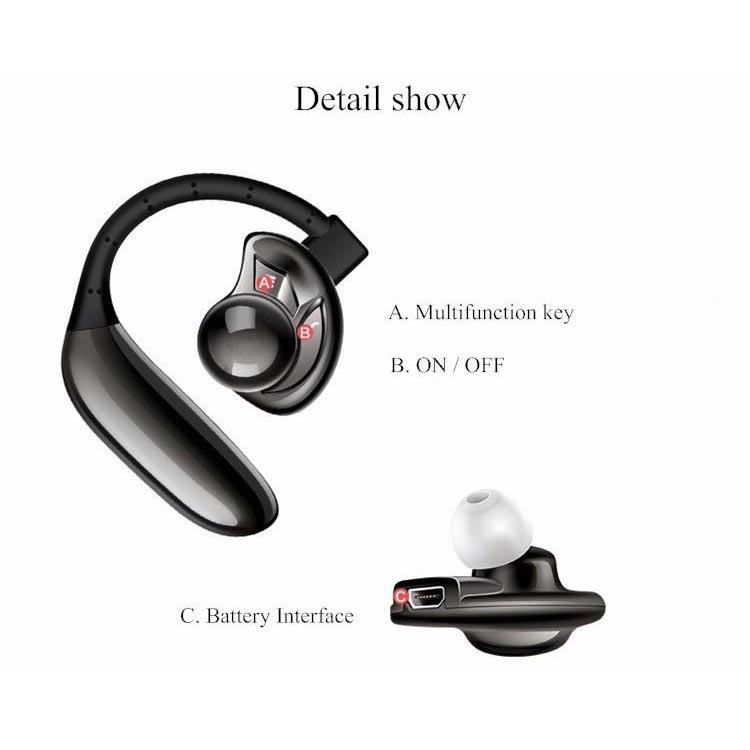 ufo stereo wireless bluetooth headset handsfree black. Black Bedroom Furniture Sets. Home Design Ideas