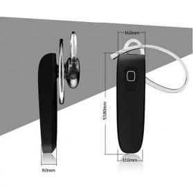 Genai Stereo Wireless Bluetooth Headset Handsfree V4.0 - Black - 7