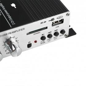 Lepy Mini Car Hi-Fi Stereo Audio Amplifier Bass Booster MP3 12V with USB Port FM MMC - LP-A68 - Black - 4