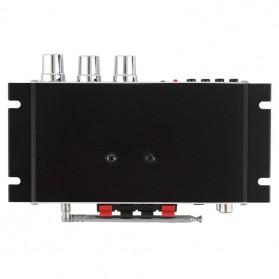 Lepy Mini Car Hi-Fi Stereo Audio Amplifier Bass Booster MP3 12V with USB Port FM MMC - LP-A68 - Black - 6