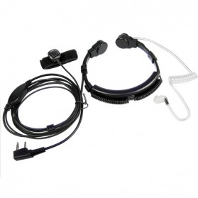 Mikrofon Tenggorokan Extendable untuk Walkie Talkie - Black - 1