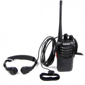 Mikrofon Tenggorokan Extendable untuk Walkie Talkie - Black - 2