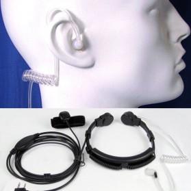 Mikrofon Tenggorokan Extendable untuk Walkie Talkie - Black - 6