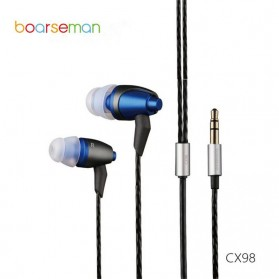 Boarseman In Ear Earphone Hifi Dynamic Earbud - CX98 - Black/Blue