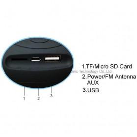 Ubit Mini Portable Bluetooth Speaker Strong Bass - X6U - Red - 4