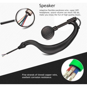Headset Earphone untuk Walkie Talkie - K0459 - Black - 4