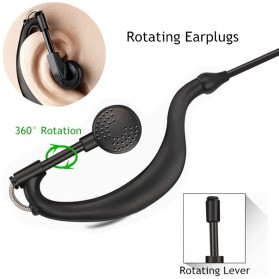 Headset Earphone untuk Walkie Talkie - K0459 - Black - 6