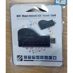 GOOJODOQ Sound Card USB Model Piano 8.1 Channel 3D Audio - F23839 - Black - 6