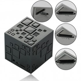 GoesTime Magic Cube Portable Bluetooth Speaker with Handsfree Function - Black - 3