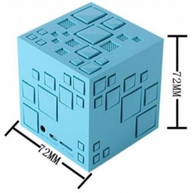 GoesTime Magic Cube Portable Bluetooth Speaker with Handsfree Function - Black - 7