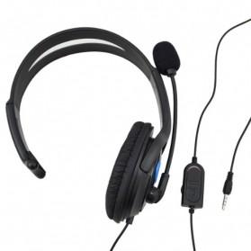 HuntGold Gaming Headset Dengan Vol Control Untuk Playstation 4 - Black - 2