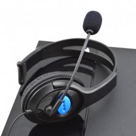 HuntGold Gaming Headset Dengan Vol Control Untuk Playstation 4 - Black - 7