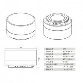 Mini Portable Bluetooth Speaker Super Bass - A10 - Black - 10