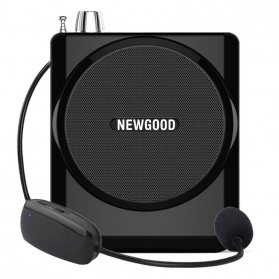 Newgood Megaphone Mikrofon Penguat Suara with USB TF Card FM Radio - N-202 - Black