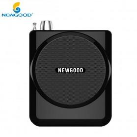 Newgood Megaphone Mikrofon Penguat Suara with USB TF Card FM Radio - N-202 - Black - 2