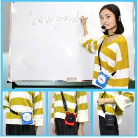 Newgood Megaphone Mikrofon Penguat Suara with USB TF Card FM Radio - N-202 - Black - 4