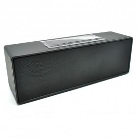 Speaker Bluetooth Portable LCD Digital Clock - Black - 1