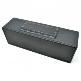 Speaker Bluetooth Portable LCD Digital Clock - Black - 2