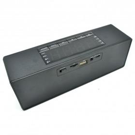 Speaker Bluetooth Portable LCD Digital Clock - Black - 3