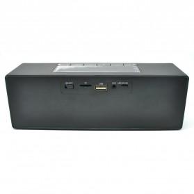 Speaker Bluetooth Portable LCD Digital Clock - Black - 4