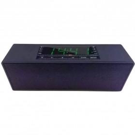 Speaker Bluetooth Portable LCD Digital Clock - Black - 5