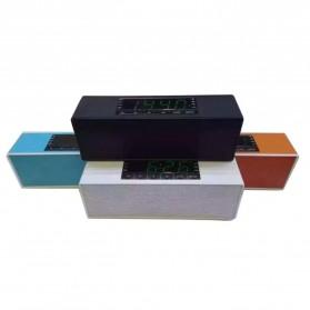 Speaker Bluetooth Portable LCD Digital Clock - Black - 7