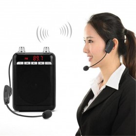 FM Transmitter Wireless Microphone Headset for Guide Tour - P16 - Black - 2